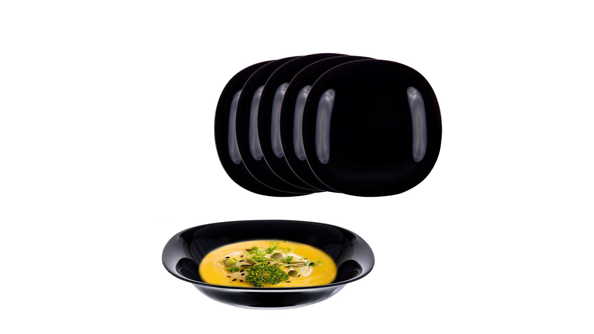 Set Carine Black Soup Pjatë 21 CM 6 Copë