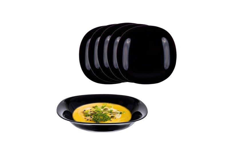 Shportë Carine Black Soup Pjatë 21 CM 6 Copë