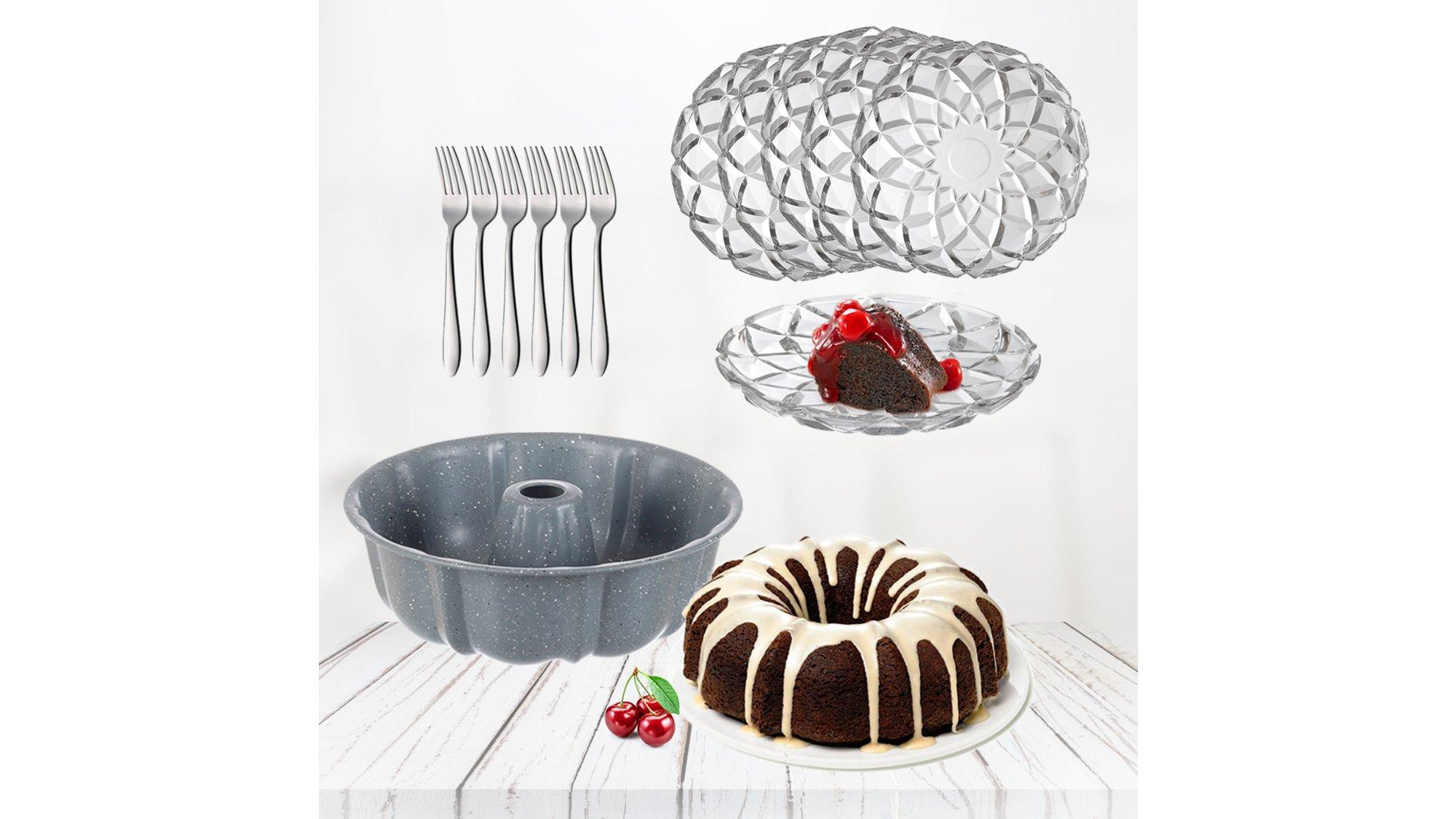 Shportë 6 Pjata Ëmbëlsire Millione, 6 Pirunj Aisha dhe 1 Formë Kon