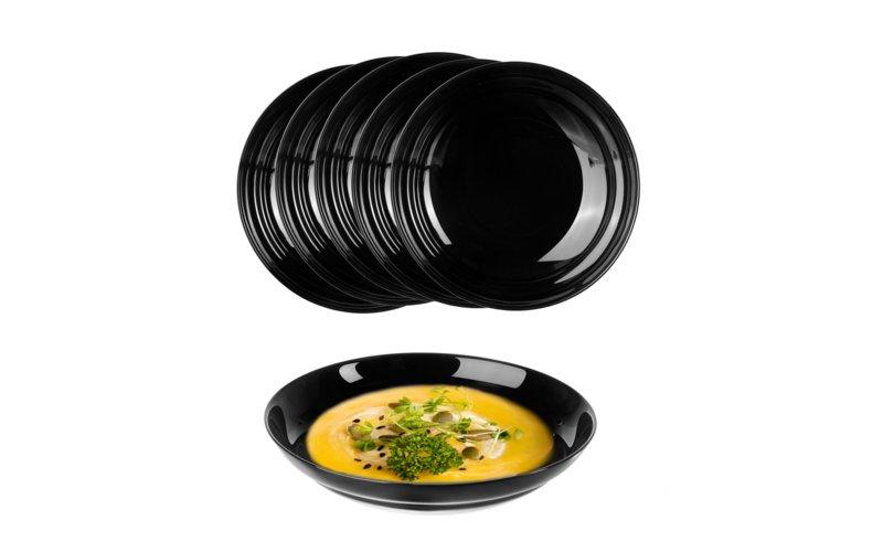 Shportë Luminarc Alexie Black Soup Pjatë, 20 cm, 6 Copë