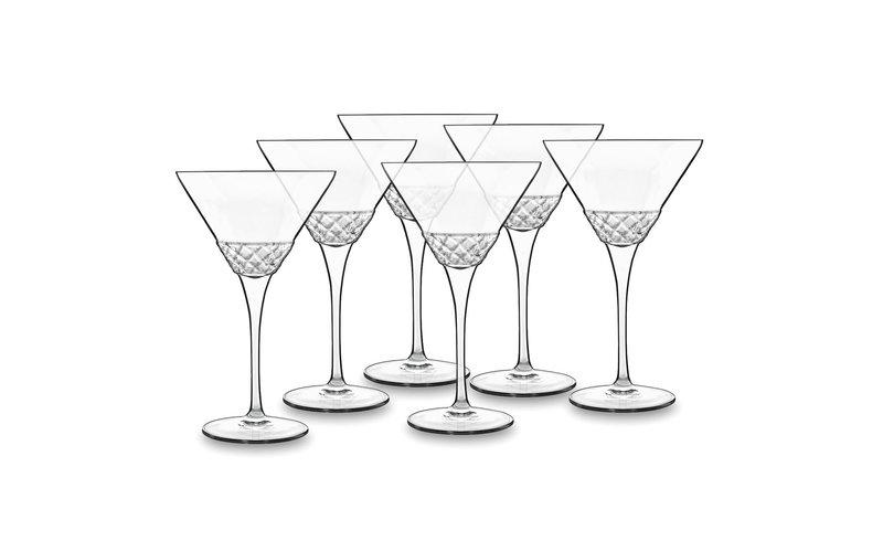 Luigi Bormioli Roma Martini Gotë me Fron 22 cl 6 Copë