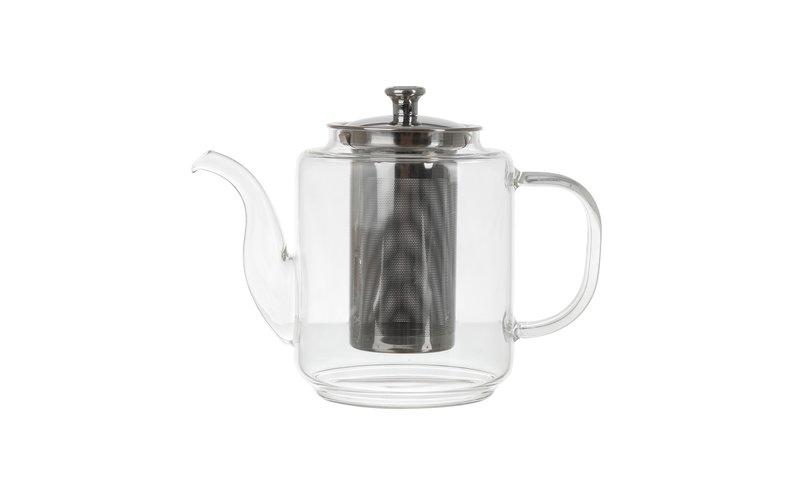 Glass Çajnik Qelqi me Filtër 1.2 Lt