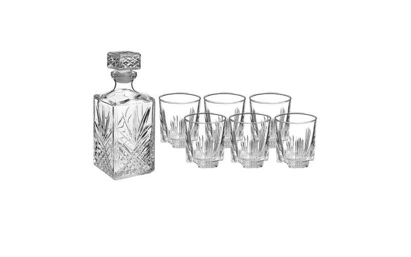 Bormioli Selecta Gota Whisky me Shishe 7 Copë