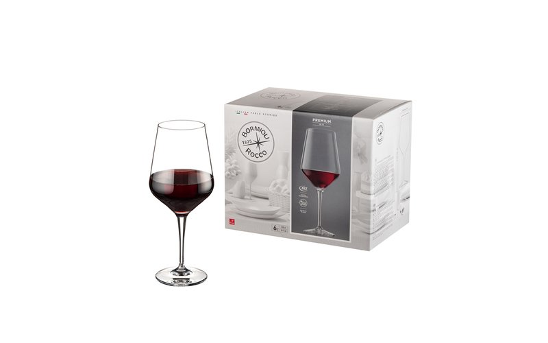 Bormioli Rocco Premium Gota Vere Me Fron, 55 Cl, 6 Copë