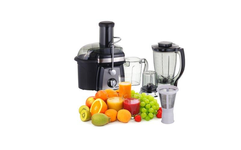 Dessini Multifunksionale Shtrydhese frutash, Blender dhe  Mikser 1200 W