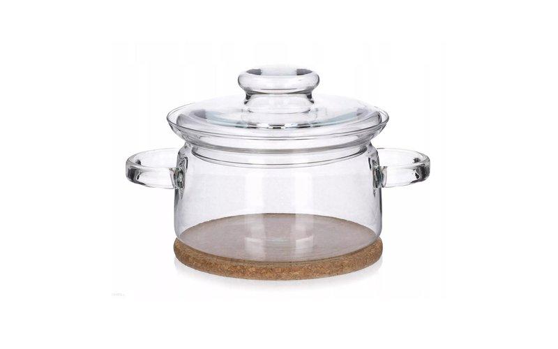 Simax Gourmet Tenxhere Qelqi me 2 Kapakë dhe Mbajtëse Druri 2.0 Lt